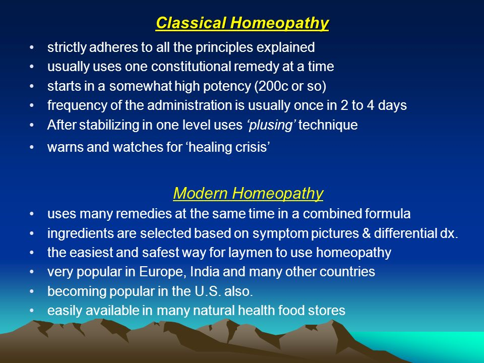 Classical Homeopathy Modern Homeopathy