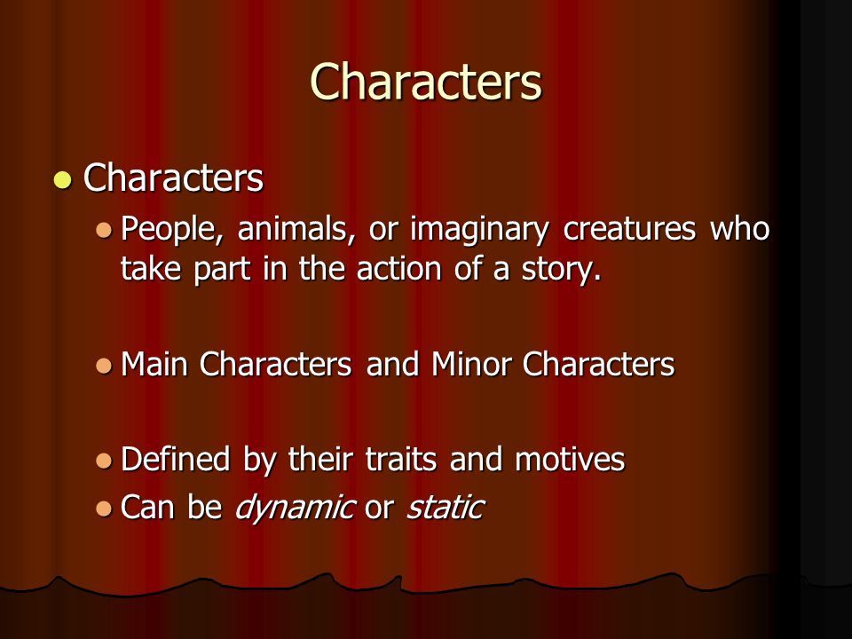 Characters Characters