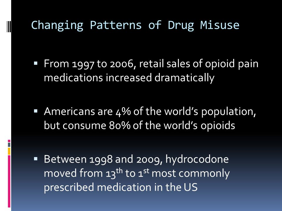 Changing Patterns of Drug Misuse
