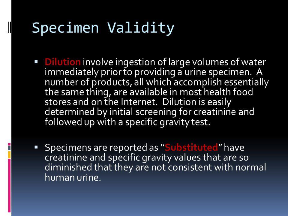 Specimen Validity