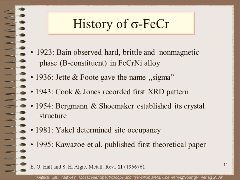 History of -FeCr