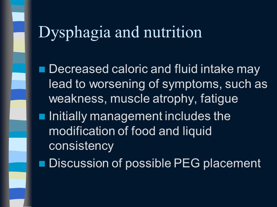 Dysphagia and nutrition