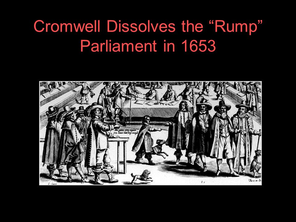Cromwell Dissolves the Rump Parliament in 1653
