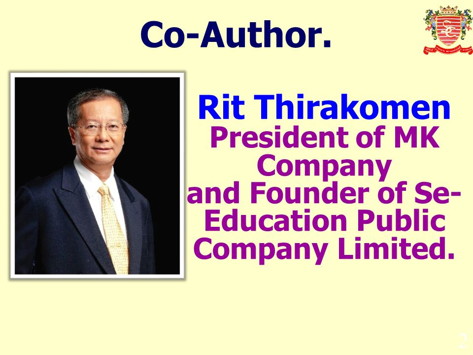 Co-Author. Rit Thirakomen