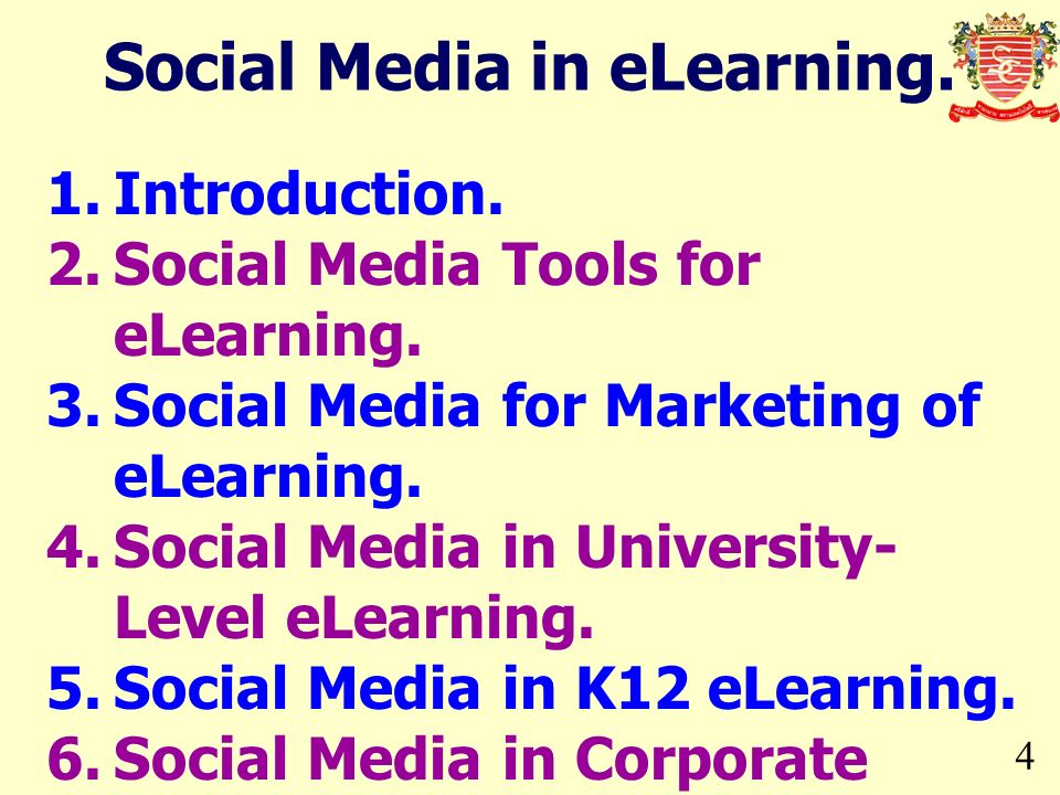Social Media in eLearning.