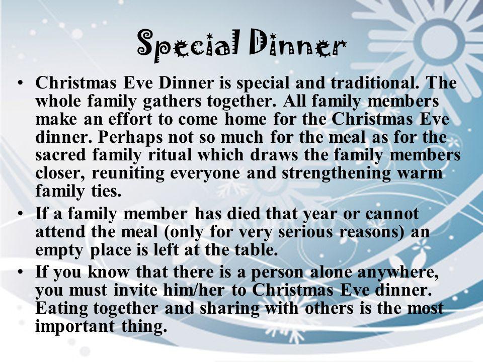 Special Dinner