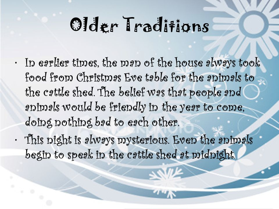 Older Traditions