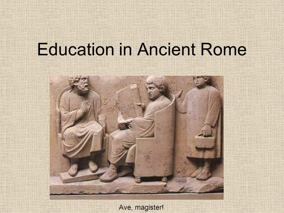 Education in Ancient Rome