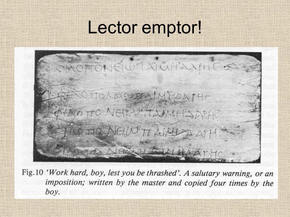Lector emptor!