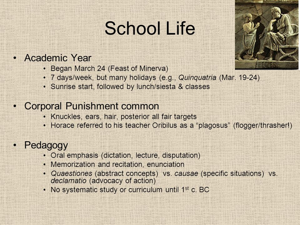 School Life Academic Year Corporal Punishment common Pedagogy