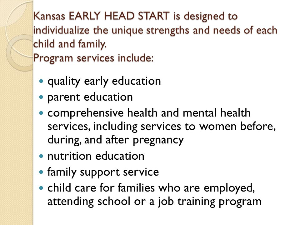 quality early education parent education