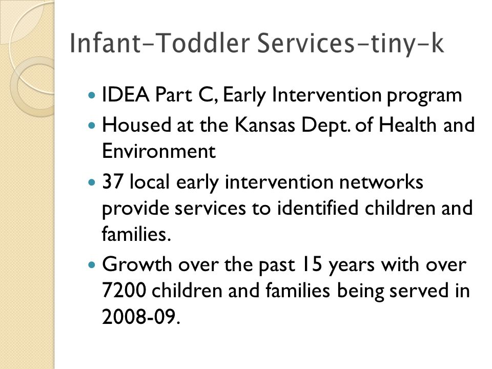 IDEA Part C, Early Intervention program