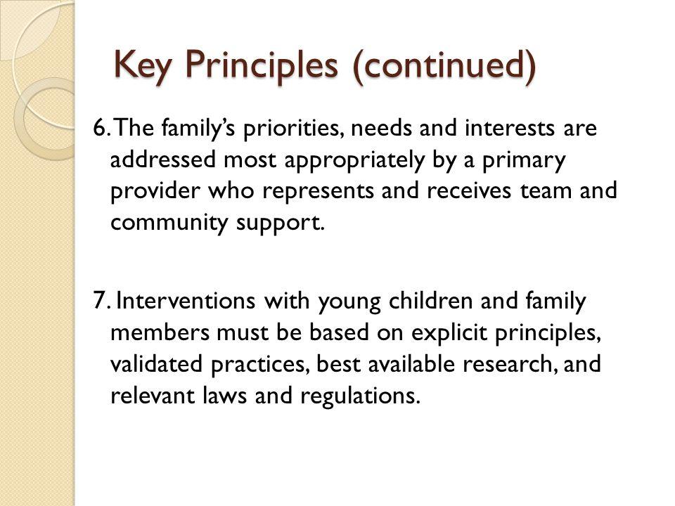 Key Principles (continued)