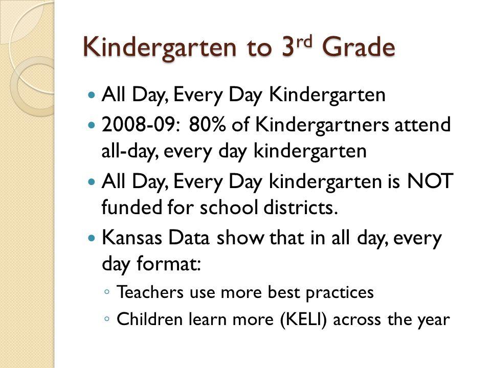 Kindergarten to 3rd Grade