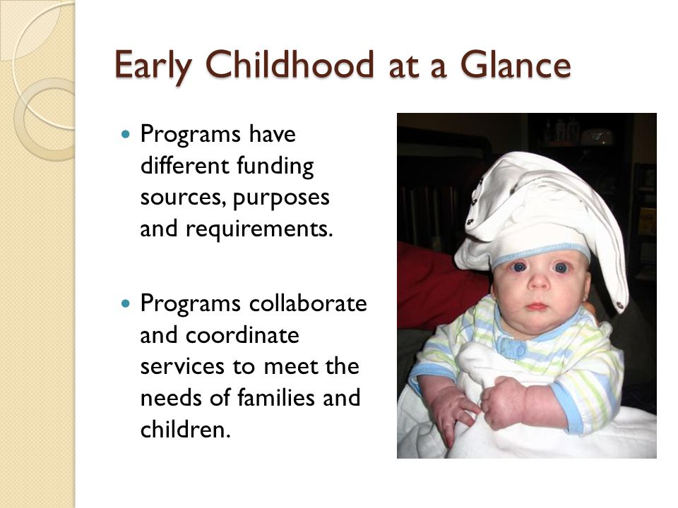 Early Childhood at a Glance
