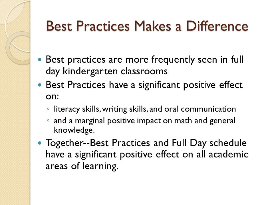 Best Practices Makes a Difference