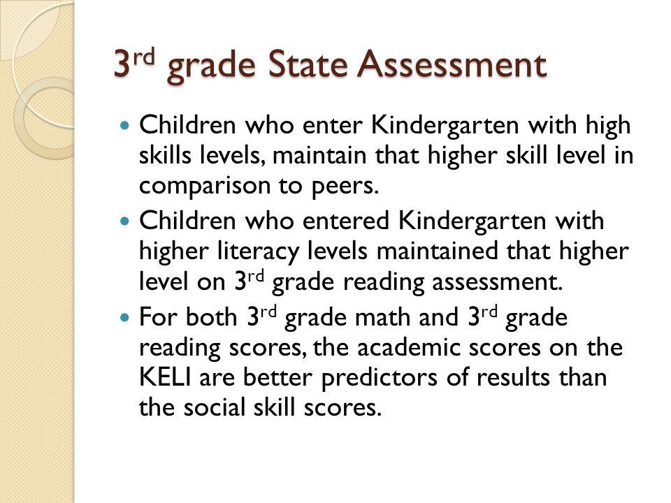 3rd grade State Assessment