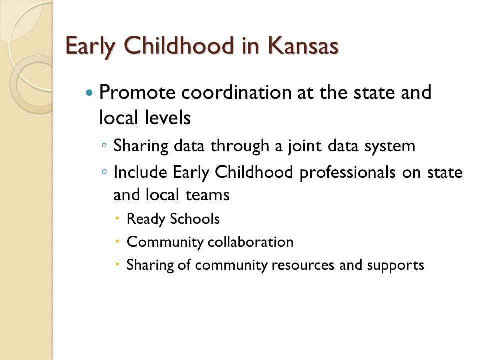 Early Childhood in Kansas