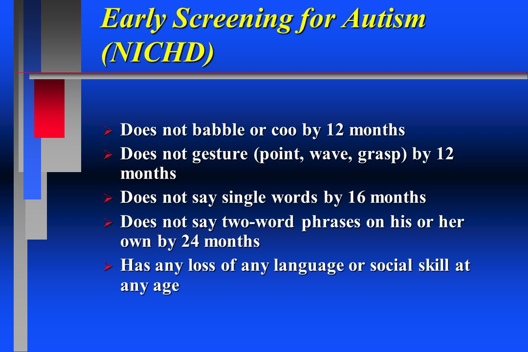 Early Screening for Autism (NICHD)