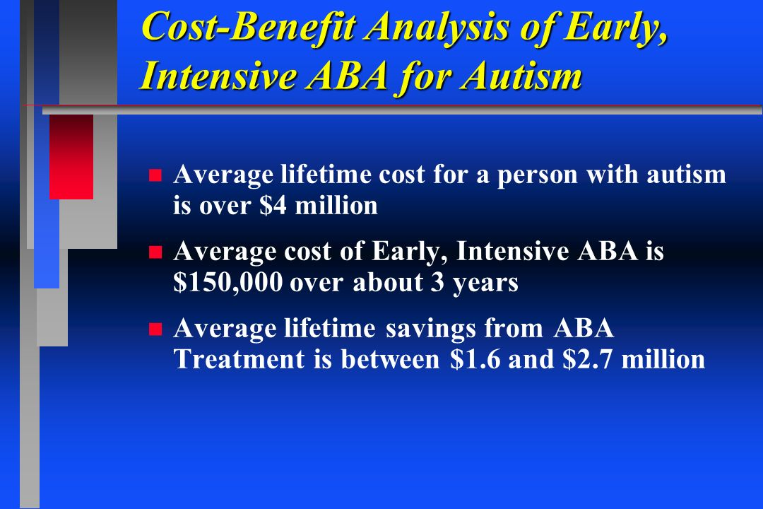 Cost-Benefit Analysis of Early, Intensive ABA for Autism