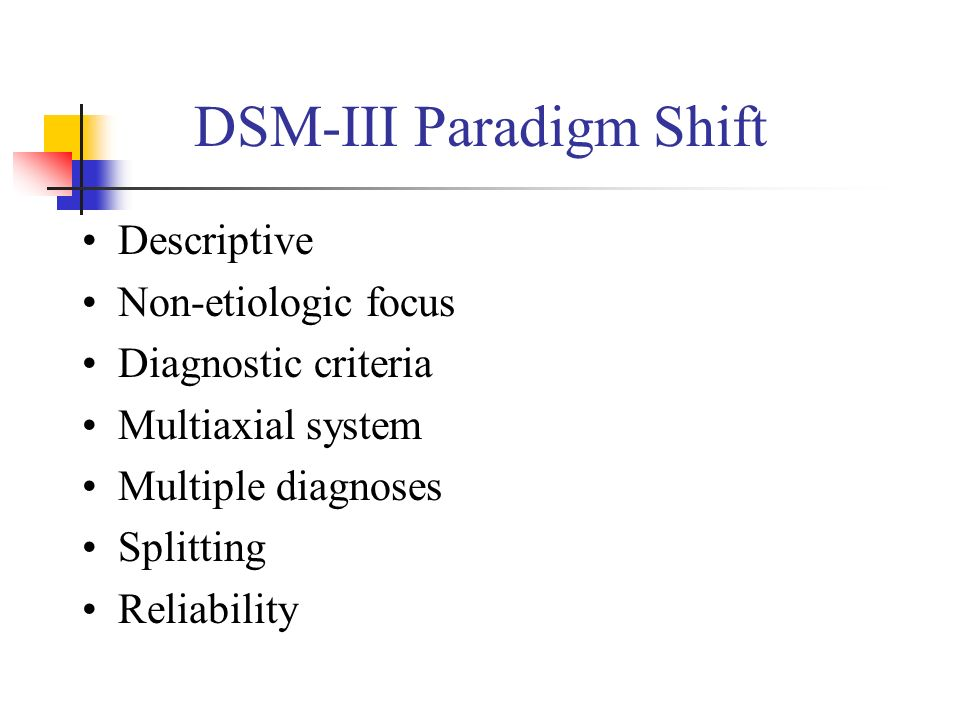 DSM-III Paradigm Shift