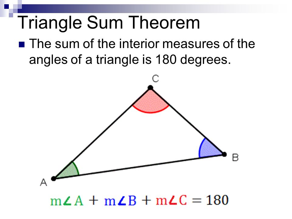 Round to nearest tenth ppt video online download - Sum of the exterior angles of a triangle ...