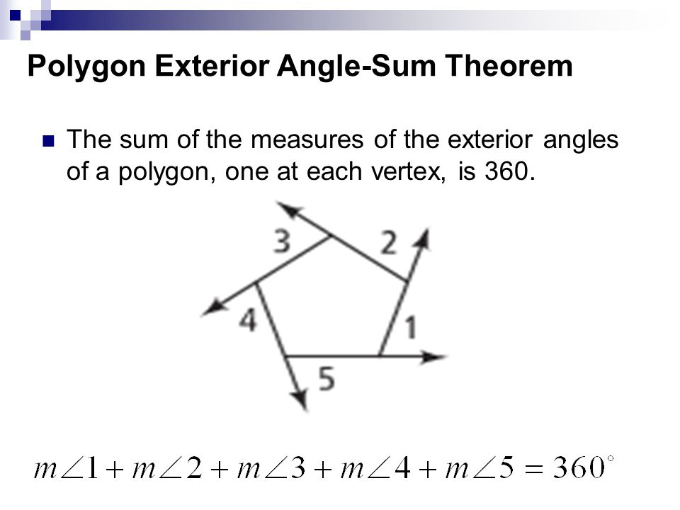 Round to nearest tenth ppt video online download - Sum of exterior angles of polygon ...