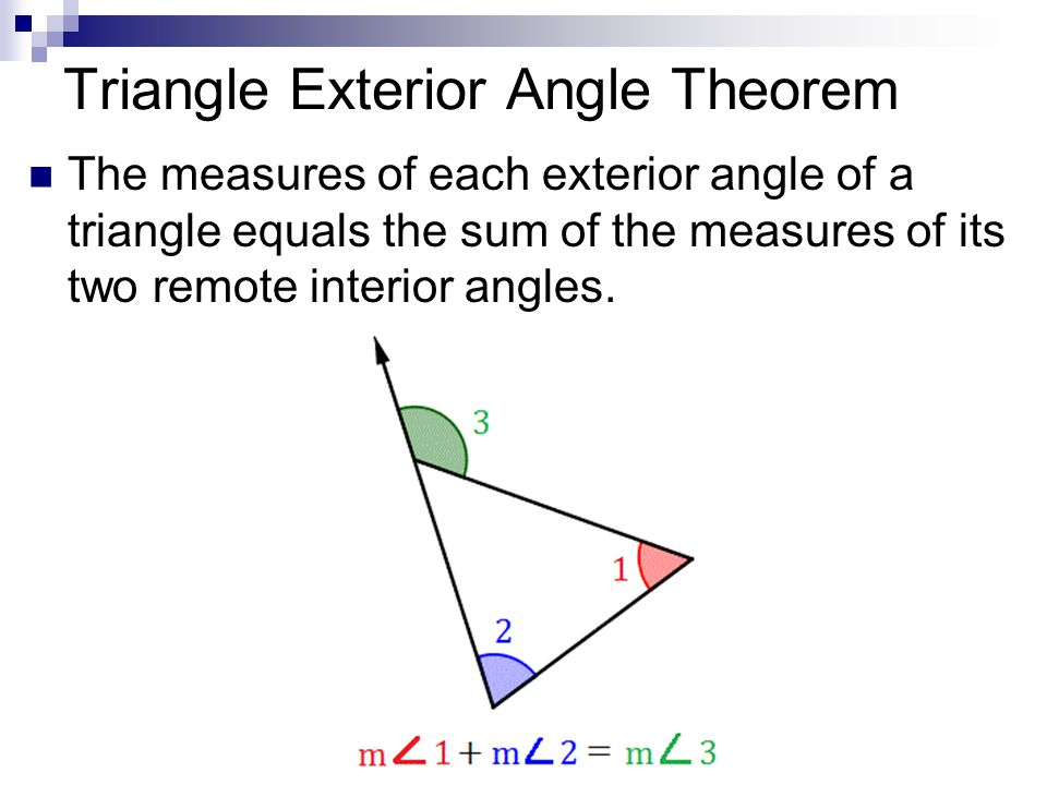 Round to nearest tenth ppt video online download for Exterior angle theorem