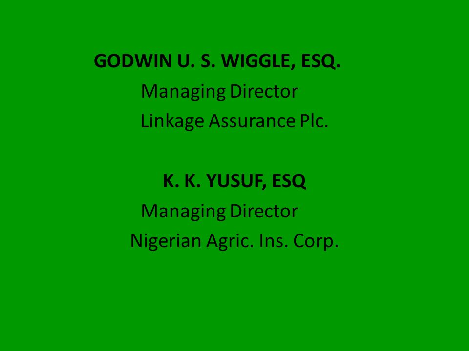 Nigerian Agric. Ins. Corp.