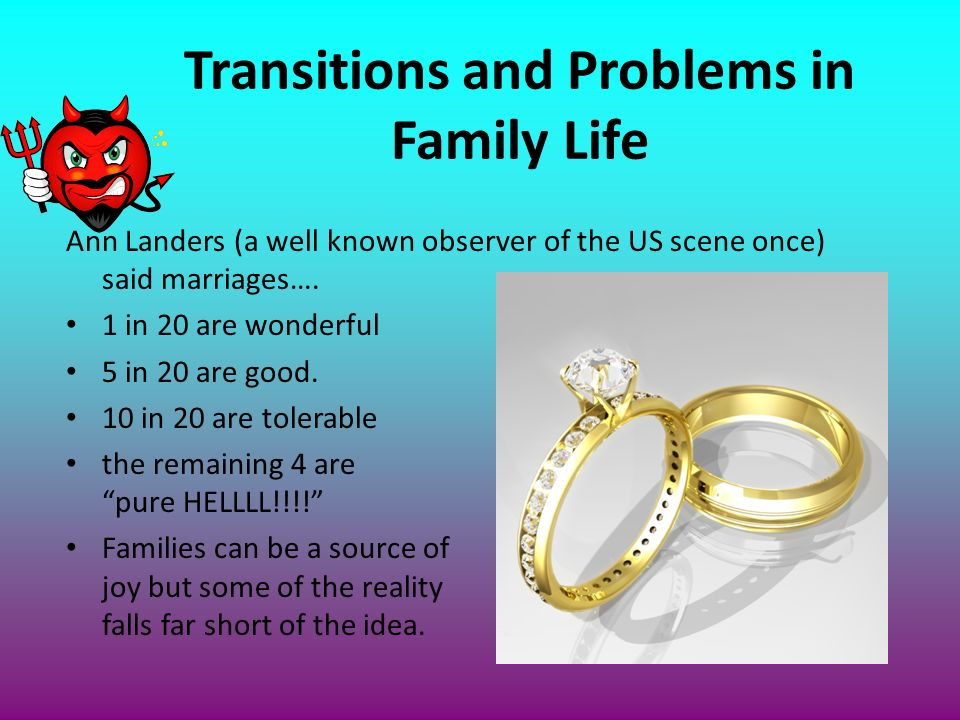 Transitions and Problems in Family Life