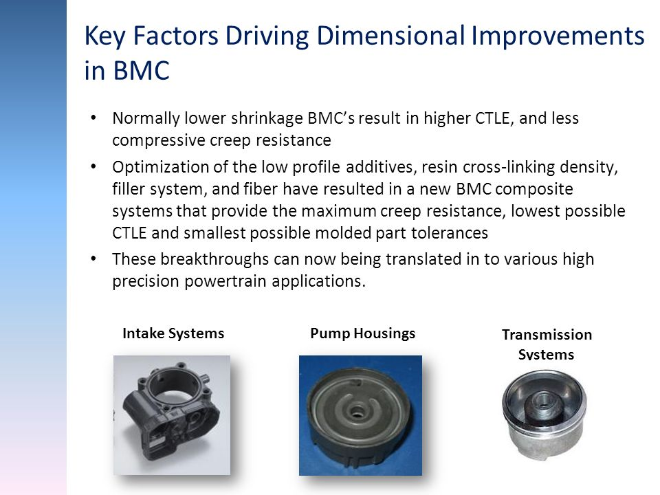 Key Factors Driving Dimensional Improvements in BMC