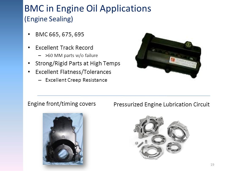 BMC in Engine Oil Applications (Engine Sealing)