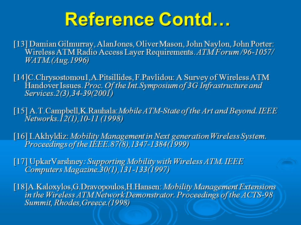 Reference Contd…