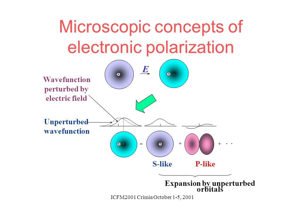 Microscopic concepts of electronic polarization