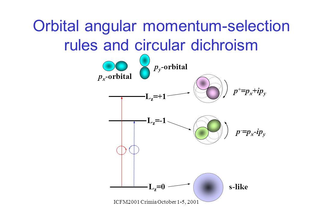 Orbital angular momentum-selection rules and circular dichroism