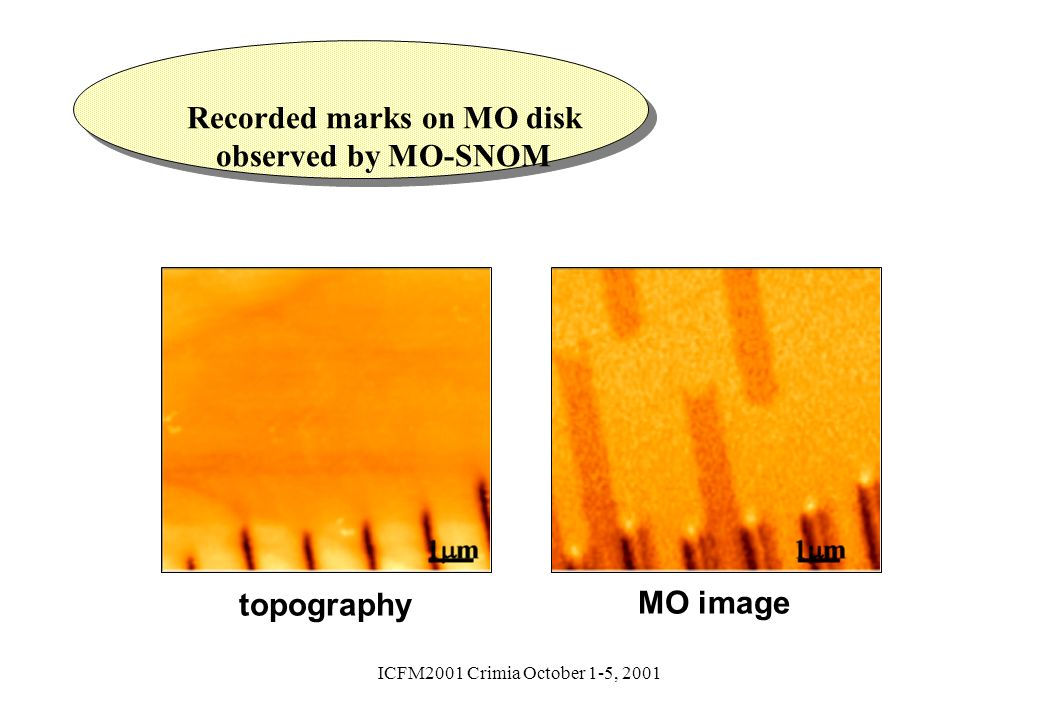 Recorded marks on MO disk observed by MO-SNOM