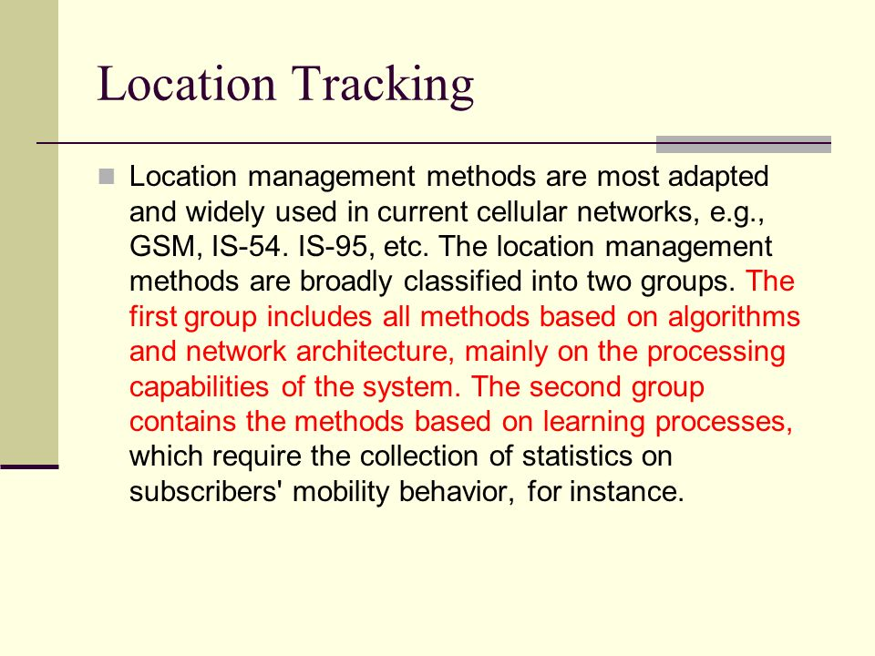 Location Tracking
