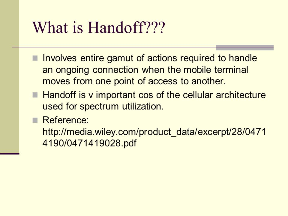 What is Handoff
