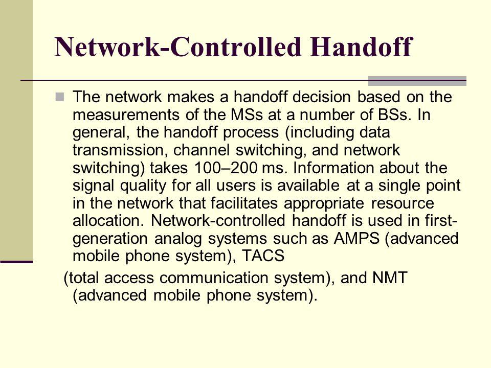 Network-Controlled Handoff