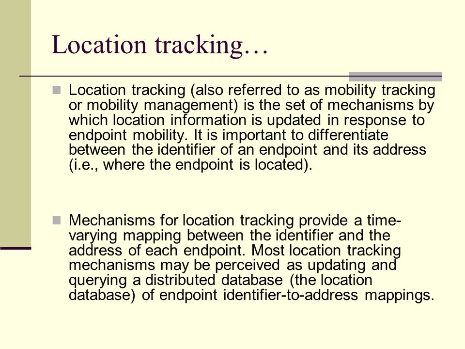 Location tracking…