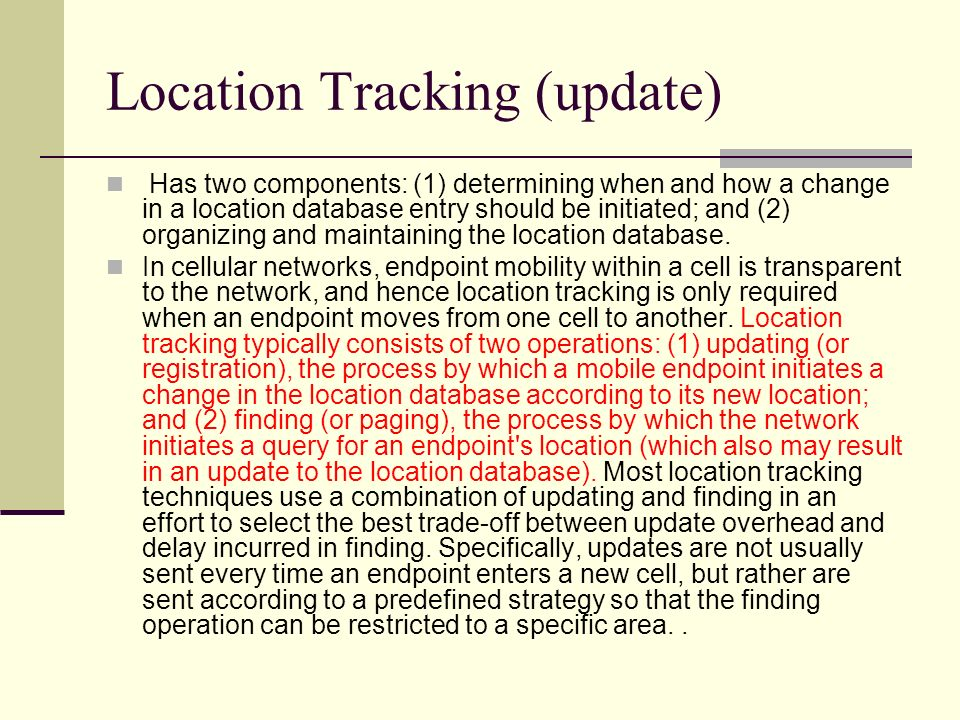 Location Tracking (update)
