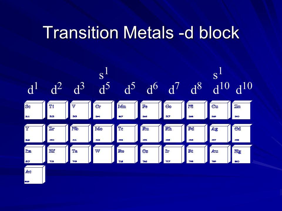 Transition Metals -d block