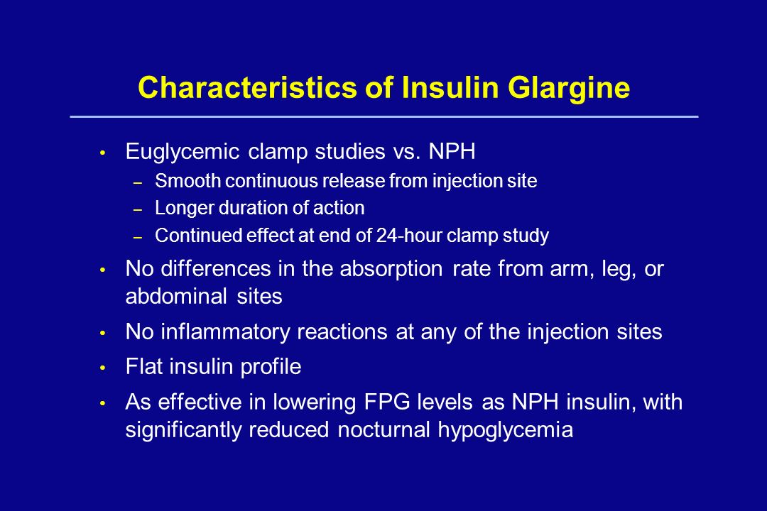 Characteristics of Insulin Glargine