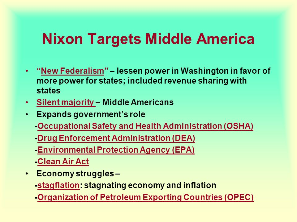 Nixon Targets Middle America