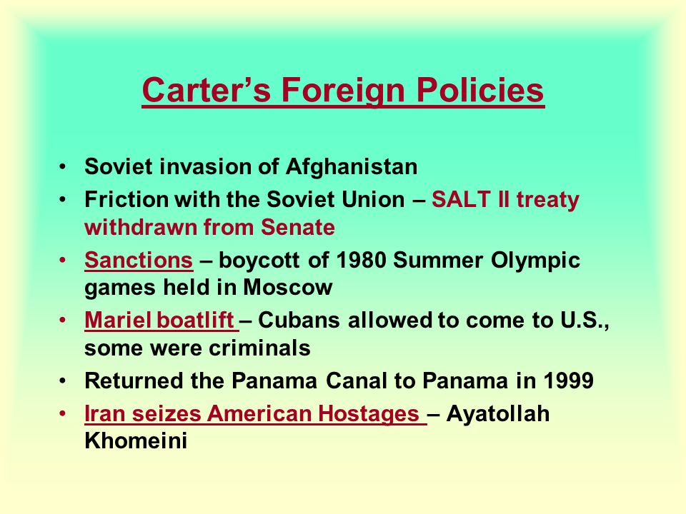 Carter's Foreign Policies