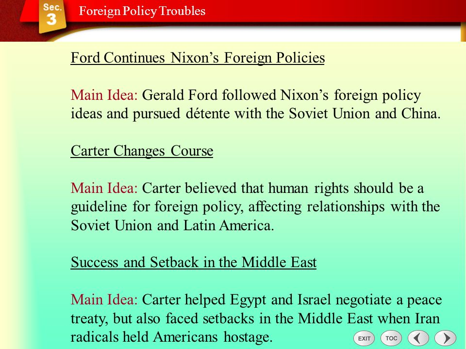 Sec 3: Foreign Policy Troubles
