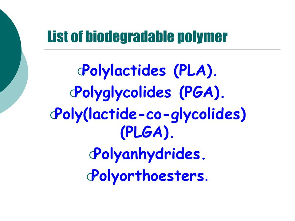 List of biodegradable polymer