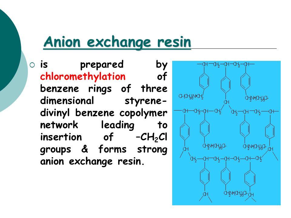 Anion exchange resin