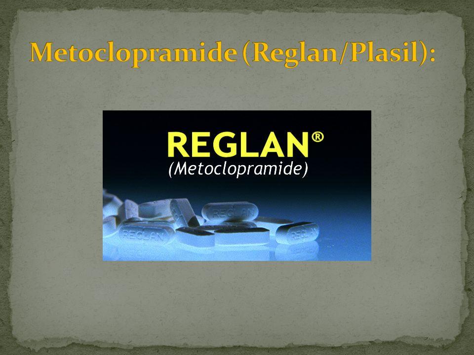 Metoclopramide (Reglan/Plasil):