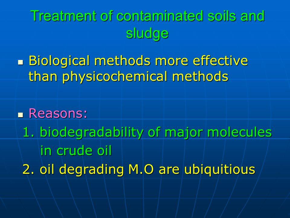 Treatment of contaminated soils and sludge